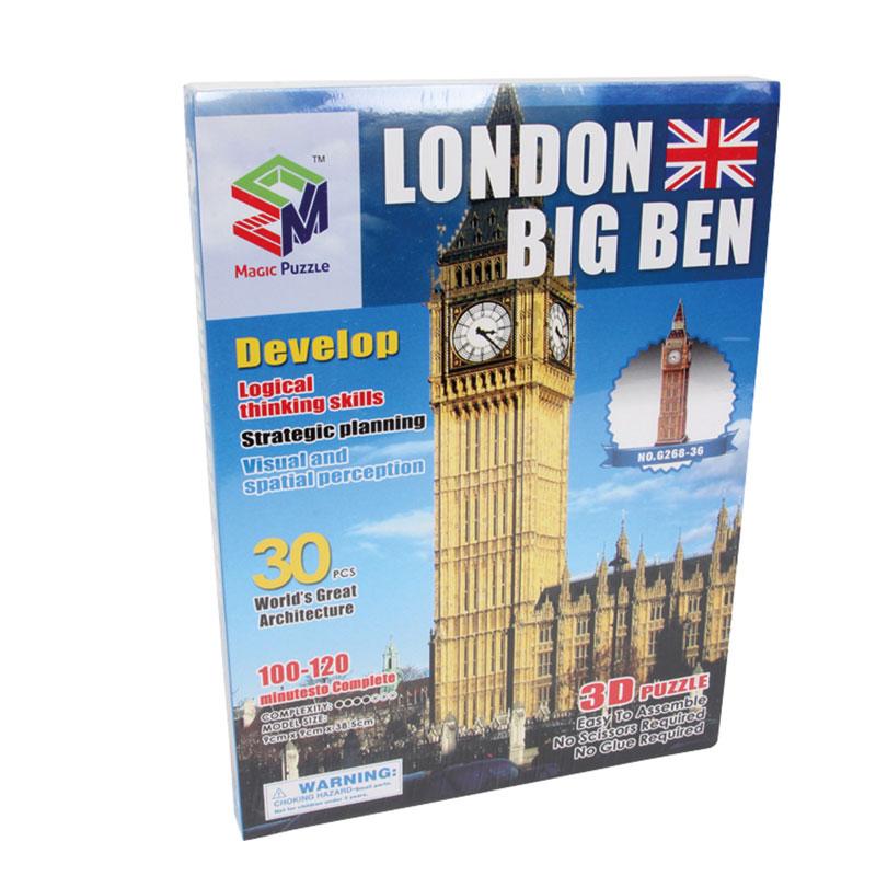 caja puzzle 3d Big Ben